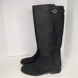 J. Crew suede black tall boots.